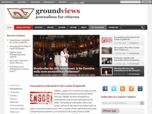 Groundviews - Groundviews is an award winning Sri Lankan citizen journalism initiative (20110620)